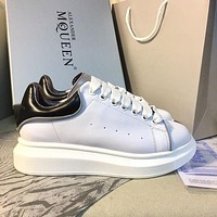 Alexander McQueen Classic white shoes-10
