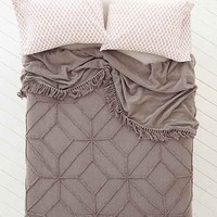 Magical Thinking Tufted Medallion Coverlet- Grey Full/queen
