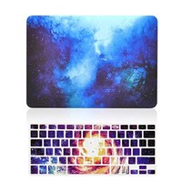 "- 2 in 1 Bundle Deal Retina 13-Inch Galaxy Graphic Rubberized Hard Case + Galaxy Keyboard Cover for MacBook Pro 13"" with Retina Display Model A1425 / A1502 - Blue"
