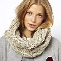ASOS Wool Mix Cable Funnel Snood