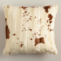 Faux Cowhide Throw Pillow - World Market