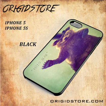 Hello Bear 2 For Iphone 5/5S Case Gift Present - Multiple Choice Material