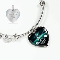 Philadelphia Eagles Bracelet Handcrafted Can Be Engraved Any TEXT (Stainless)