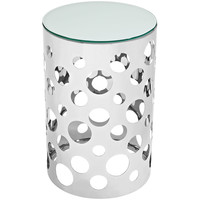 Etch Stainless Steel Side Table Silver