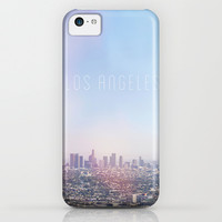 Los Angeles Skyline Typography iPhone & iPod Case by Kim Lucian Photography