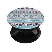 Jumping Fish Repeating Pattern - Skin Kit for PopSockets and other Smartphone Extendable Grips & Stands