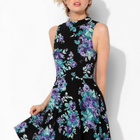 Kimchi Blue Stella Mock-Neck Fit & Flare Dress - Urban Outfitters