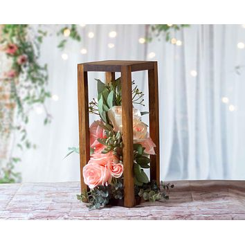 "Lantern, 14"" Frame Brown"