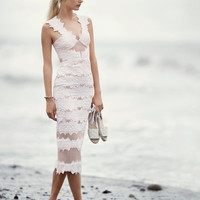 Jonathan Simkhai Brocade Midi Dress at INTERMIX | Shop Now | Shop IntermixOnline.com