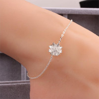 New Arrival Women Silver Plated Jewelry Anklet New Ankle Bracelet Fashion Anklets for Women Sexy Chrysanthemum Foot Jewelry