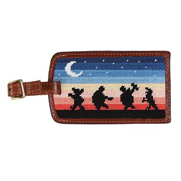 Grateful Dead Moondance Needlepoint Luggage Tag by Smathers & Branson