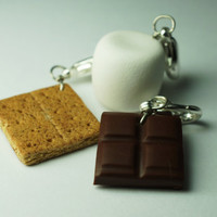 Smore Charm Collection Miniature Food by Sweetnsavorytrinkets
