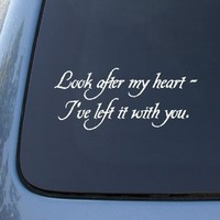 LOOK AFTER MY HEART - TWILIGHT - Vinyl Car Decal Sticker #1796 | Vinyl Color: White