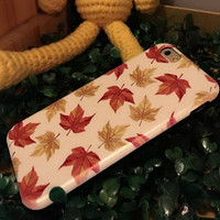 Maple Leaves Case Cover for iphone 6 6s Plus Gift 218