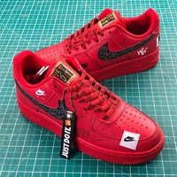 Nike Air Force 1 Low Af1 Just Do It Red   Ar7719-106 Sport Shoes - Sale