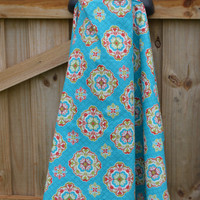 Red, Teal and Green Medallion Nursing Cover