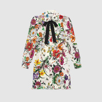 Gucci Flora Snake print long shirt