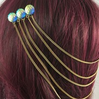 Hair Chain - Siren's Spell Mermaid Scale Hair Chain