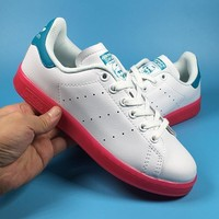 Adidas Stan Smith W Blue / White /Pink Women's Casual Shoes Sneaker