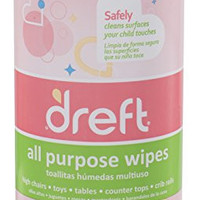 Dreft Multi Surface Cleaner Wipes, 70 Count (Pack of 4)