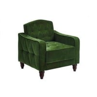 Novogratz Vintage Tufted Armchair, Multiple Colors - Walmart.com
