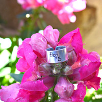 Hand stamped custom toe ring- Toe Ring- Personalized Toe Ring- One Size Fits All- Initials on Toe Ring- custom jewelry- Summer jewelry- Fun