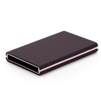 Metal Travel Card Wallet Automatic Pop up Click Slide Card Holder Stainless Steel Bank Card Case
