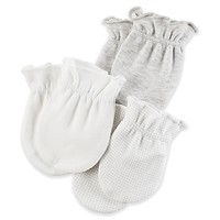 carter's® Size 0-3M 3-Pack Mittens in Grey