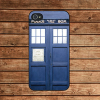 iphone 4 case,iphone 4s case,iphone 4 cover-- Dr  Who Tardis,in plastic or silicone case