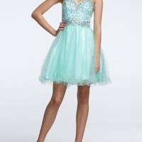 Strapless Short Ball Gown with Jeweled Bodice - David's Bridal