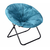 Plush Saucer Chair, Multiple Colors Great Dorm Use Gaming Chair