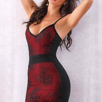 Amber Lace Bandage Dress