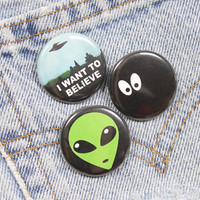 Cartoon Eyes In The Dark 1.25 Inch Pin Back Button Badge