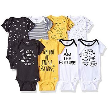 Baby Boys' 8 Pack Short-Sleeve Onesuits Bodysuits