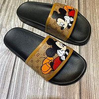 GUCCI x DISNEY simple new cartoon printed wild beach sandals shoes