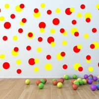 Wall Decals Polka Dots Multi Size Set of 104 Childrens Room Nursery Decor 22403