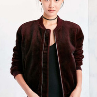 J.O.A. Vegan Pony Hair Bomber Jacket - Urban Outfitters
