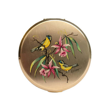 Artist Signed Stratton Compact | 1960s | A Wagg Vintage Powder Compact | Rare Make Up Compact