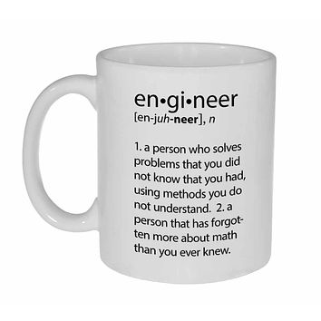 Engineer Definition- funny coffee or tea mug