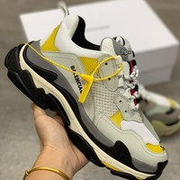 HCXX 19Sep 296 Balenciaga Triple S 1.0 Rubber Outsole Fashion Casual Sneaker Ratro Jogging Shoes