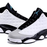 Cheap Air Jordan 13 Carmelo Anthony White Black Shoes