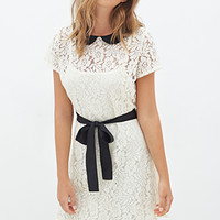 FOREVER 21 Peter Pan Collar Lace Dress