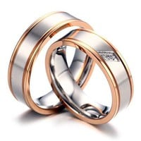 Couple Similar Titanium Rings Set Engraved