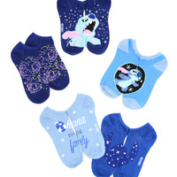 Disney Lilo & Stitch Outer Space No-Show Socks 5 Pair