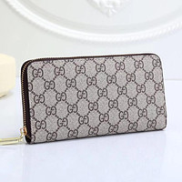 GG letter print stitching color clamshell wallet long clutch Bag