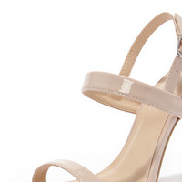 Stay Classy Natural Dress Sandals