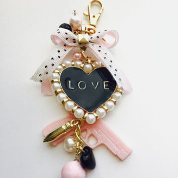 shop City Girl pink  and gold Filofax or planner charm