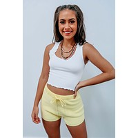 Comfy Feel Cropped Tank: White