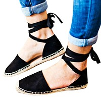 Fashion sandals, straw knitted flax straps and large size women's shoes