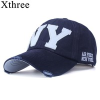 [Xthree] unisex fashion cotton baseball cap snapback hat for men women sun hat bone